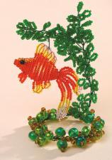 Золотая рыбка. Размер - 6,5 х 12 см.