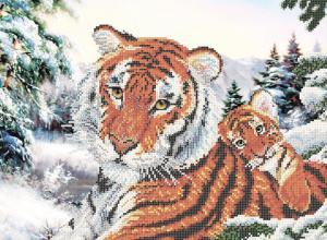 Тигрица с тигрёнком.