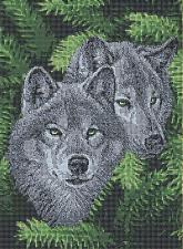 Волки. Размер - 28 х 37,5 см.