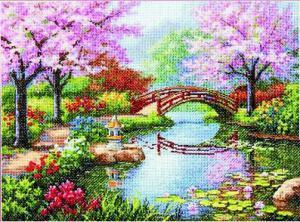 Японский сад. Размер - 40,6 х 30,4 см.