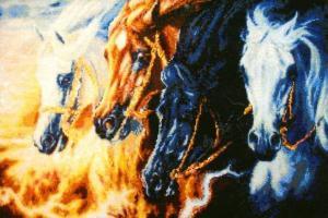 Четыре коня Апокалипсиса. Размер - 52,1 х 34,6 см.