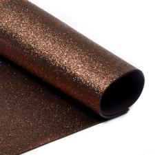 Глиттерный фоамиран (коричневый). Размер - 20 х 30 см.