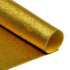 Глиттерный фоамиран (золотой). Размер - 20 х 30 см.