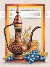 Натюрморт с виноградом. Размер - 28х34.5 см