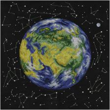 Планета Земля.Евразия. Размер - 36,5 х 36,5 см.