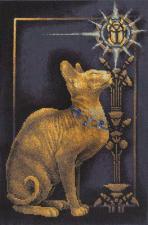 Скарабей и кошка. Размер - 23 х 35 см.