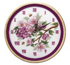 Часы.Цветут сады. Размер - 25 х 25 см.