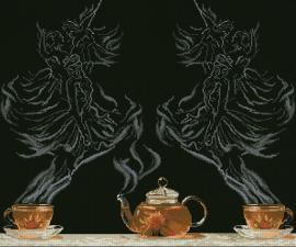 Чайная фантазия-балет 1. Размер - 54,5 х 45,3 см.