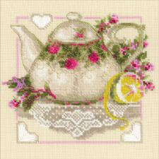 Чай с лимоном. Размер - 20 х 20 см.