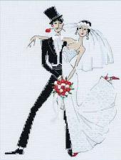 Свадебное танго. Размер - 20 х 26 см.