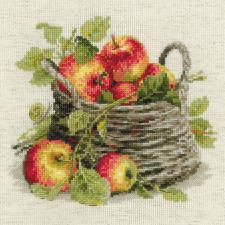 Спелые яблоки. Размер - 30 х 30 см.