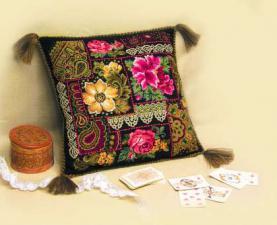 Подушка по мотивам павловских платков. Размер - 40х40 см