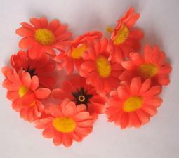 Ромашка (оранжевый). Размер - 4 см.