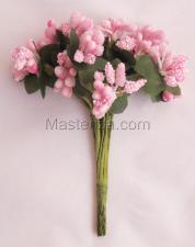 Букетики тычинок(розовый).
