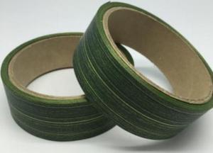 Лента Аспидистра (зелёный с тиснением). Ширина 3 см.