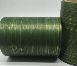 Лента Аспидистра (зелёный с тиснением). Ширина 12 см.