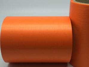 Лента Аспидистра (оранжевый). Ширина 12 см.