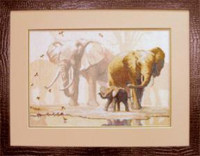 Слоны. Размер - 38,5 х 26 см.