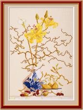 Лилии.Желтые лилии. Размер - 30 х 42 см.
