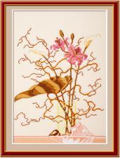 Лилии.Розовые лилии. Размер - 30 х 42 см.