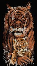Тигры. Размер - 32 х 55 см.