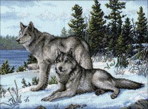 Волки. Размер - 40 х 30 см.