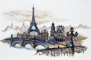 Силуэты Парижа. Размер - 40 х 24 см.