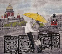 Романтика Петербурга. Размер - 26 х 24 см.