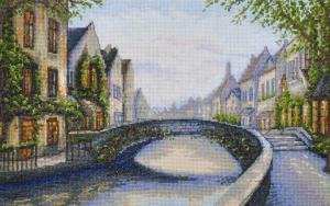 Бельгийский город. Размер - 36,6 х 22,8 см.