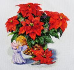 Рождественский натюрморт. Размер - 31,7 х 31,7 см.