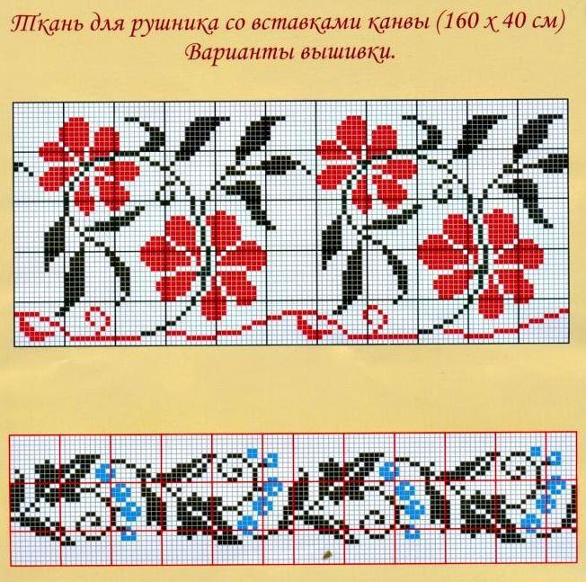 Рушник для вышивки крестом 745