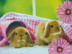 Кролики-2. Размер - 23 х 18 см.