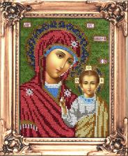Икона Божией Матери Казанская. Размер - 12 х 16 см.