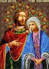 Икона Святые Петр и Феврония. Размер - 19 х 27 см.