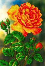 Цветущая роза. Размер - 19 х 27 см.