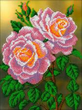 Розовые розы. Размер - 19,5 х 26,5 см.