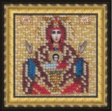"""Икона Божьей Матери """"Неупиваемая чаша""""(с акрил.рамкой). Размер - 6,5 х 6,5 см."""