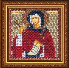 Икона Св.Вмуч.Марина(с акрил. рамкой). Размер - 6,5 х 6,5 см.