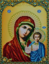 Казанская икона Божией Матери. Размер - 21,5 х 28,5 см.