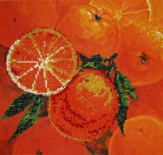 Фрукты.Апельсины. Размер - 20 х 20 см.