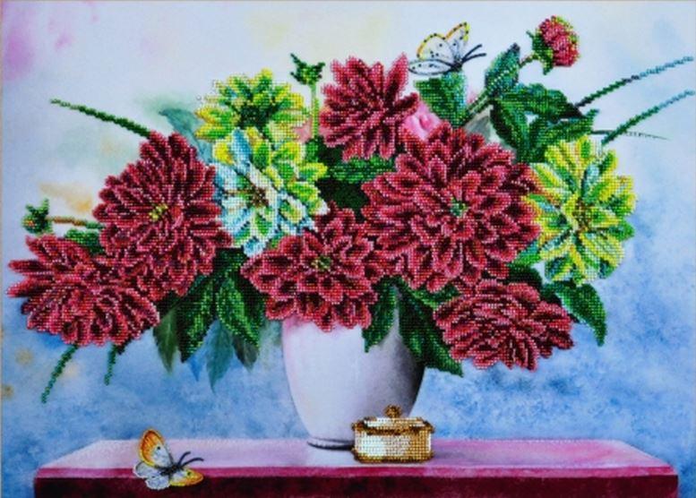 Вышивка цветы большие картины 3
