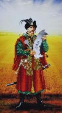 Украинский казак. Размер - 18 х 33 см.