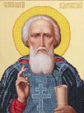 Св.Сергий Радонежский. Размер - 24,6 х 33,3 см.