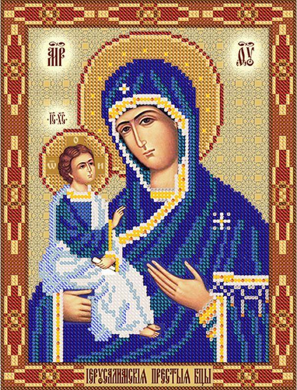 Икона божией матери иерусалимская вышивка