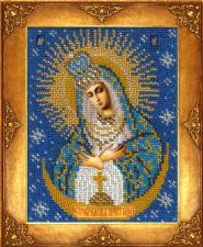 Богородица Остробрамская. Размер - 12,5 х 16,3 см.