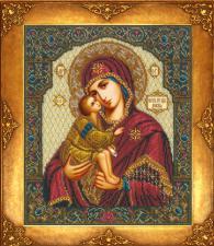 Богородица Донская. Размер - 26 х 31,5 см.