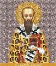 Икона св. Василий Великий. Размер - 9 х 11 см.