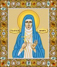 Святая Преподобная мученица Елизавета. Размер - 13 х 15 см.