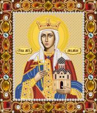 Святая мученица Людмила. Размер - 13 х 15 см.
