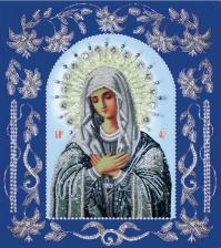 Богородица Умиление в рамке. Размер - 33 х 37 см.